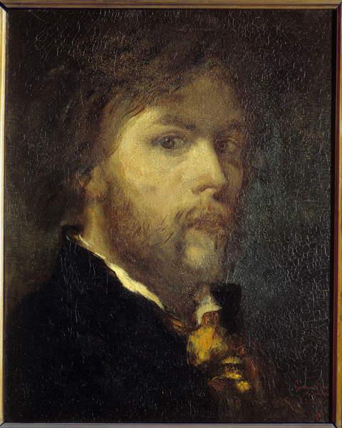 Image of Self Portrait Painting by Gustave Moreau (1826-1898) 1850 Paris, Musee Gustave Moreau, Moreau, Gustave (1826-98) / French, Photo © Photo Josse / Bridgeman Images