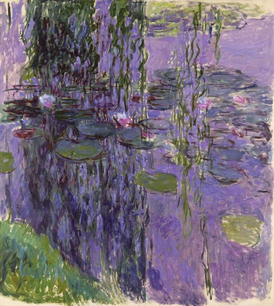 Nympheas, 1916-19 (oil on canvas), Monet, Claude (1840-1926) / French, Musee Marmottan Monet, Paris, France, 200x180 cms, © Bridgeman Images