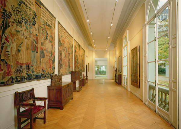 A view of the gallery on the ground floor, 18th-19th century (photo), Musee Marmottan Monet, Paris, France, © Bridgeman Images