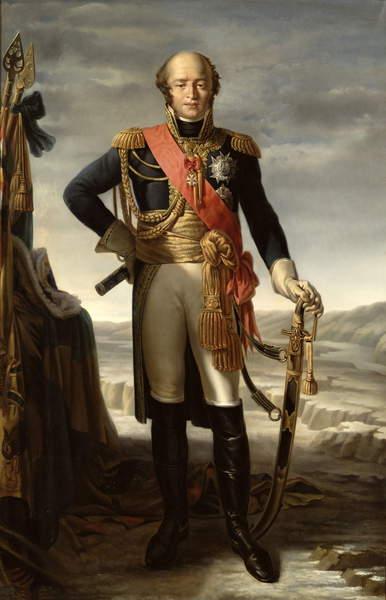 Image of Portrait of Louis Nicolas Davout (1770-1823) Prince of Eckmuhl, Duc d'Auerstaedt and Marshal of France, c.1852 (oil on canvas), Marzocchi de Belluci, Tito (1800-71) / French, Château de Versailles, France, © Bridgeman Images