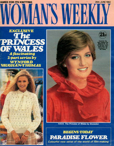 Image of the Woman's Weekly Magazine Cover, 26th June 1982 (colour litho), Diana, Princess of Wales (1 July 1961 – 31 August 1997), first wife of Charles, Prince of Wales / © The Advertising Archives / Bridgeman Images