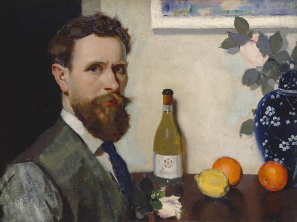 Self Portrait, c.1917 (oil on canvas), © Bridgeman Images