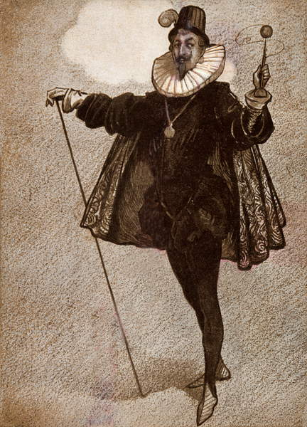 Image of Twelfth Night': Comedy by William Shakespeare. The humorous character, 'Malvolio'. WS: English poet and playwright, 26 April 1564-23 April 1616. 'Herriot' Series, © Lebrecht Authors / Bridgeman Images