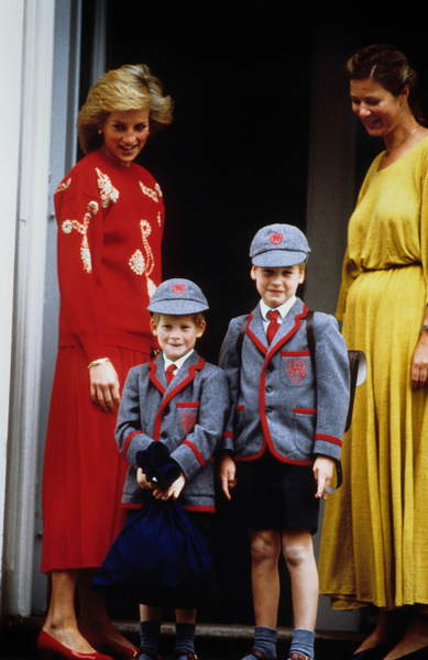 Diana, princess of Wales (1961-1997) with her sons prince Harry and prince William, in 1986 / © Bridgeman Images