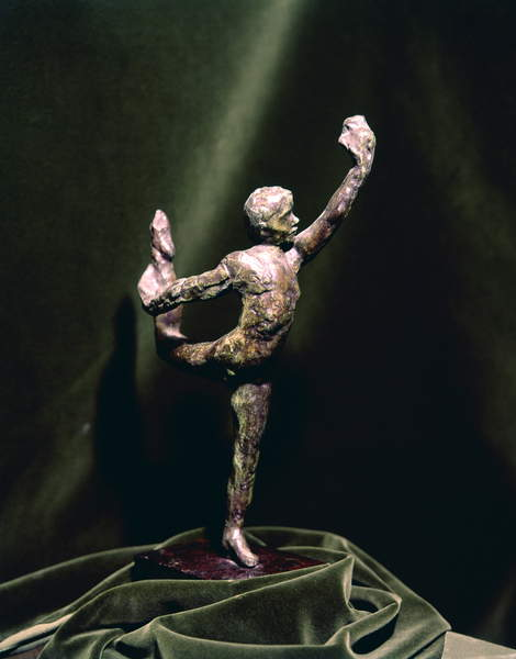 Dancing Movement LE (Mouvement de danse E), by François-Auguste-René Rodin, after 1911, 20th Century, bronze, 36,5 x 11,5 x 20,2 cm, Rodin, Auguste (1840-1917) / French, Musee Rodin, Paris, France, Detail. Movement Dance E is part of a series of sculptures for which Alda Moreno, known dancer and acrobat at the Opéra-Comique, posed. © Mondadori Portfolio/Giorgio Lotti / Bridgeman Images