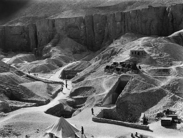 VALLEY OF THE KINGS, 1925 The tomb of King Ramses VI in the Valley of the Kings, Egypt, photographed by Harry Burton, c. 1925, © Granger / Bridgeman Images