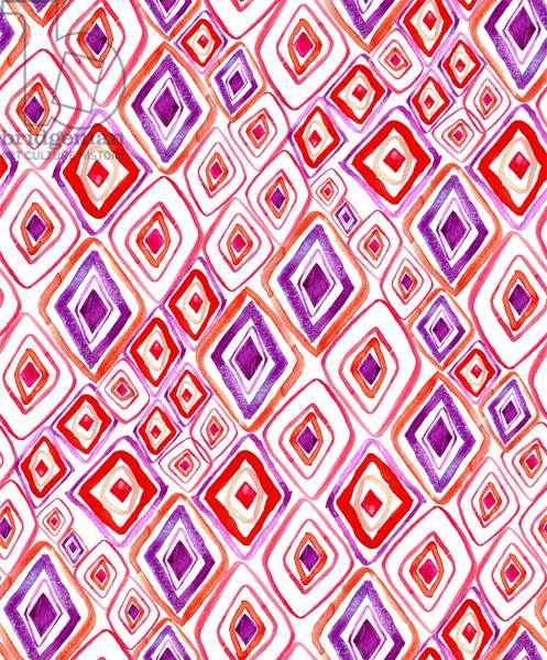 Boho Pattern, 2017, watercolor