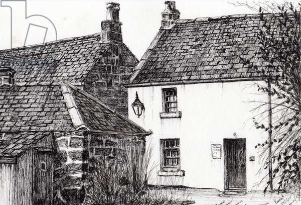 W.M.Barrie's birthplace, 2007, (ink on paper)