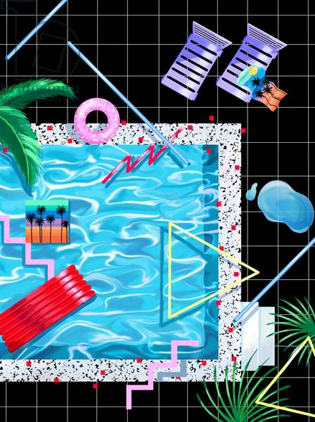 Poolside, 2015 (digital illustration)