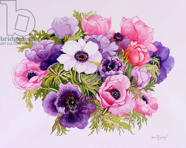 Anemones,2001,water colour on handmade paper