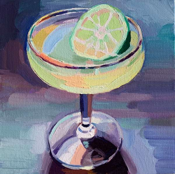 Cocktail 5, 2019 (oil on board)