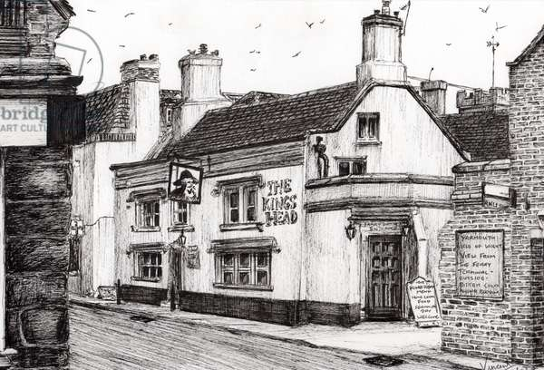 The Kings Head Yarmouth, 2008, (ink on paper)