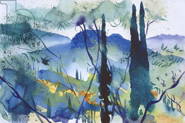 Near Pagoi, Corfu, 2005 (watercolour)