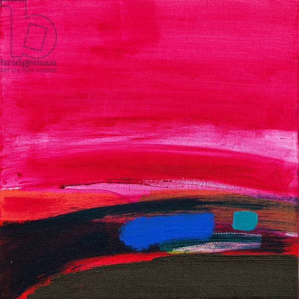 Magenta Delight, 2014, (acrylic on canvas)