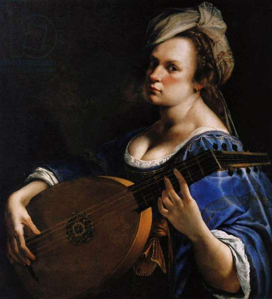 Self-Portrait as a Lute Player, c.1615-18 (oil on canvas)