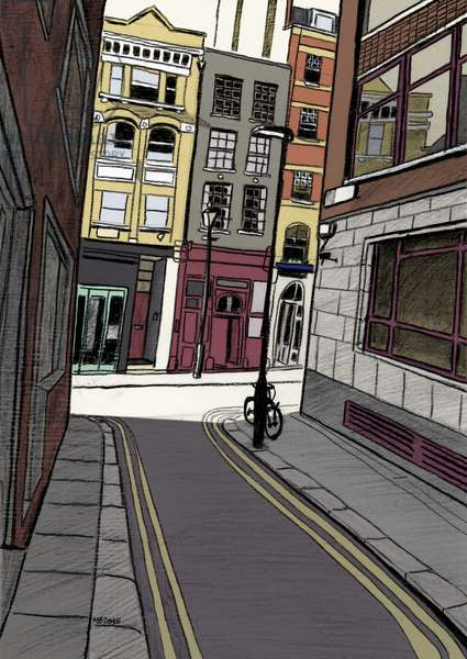 Fox and Knot Street EC1, 2015 (pencil, digital)