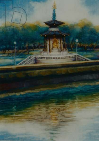 Peace Pagoda, 2005 (oil on paper) Battersea Park