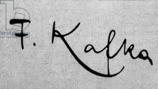 Signature of Franz Kafka (1883-1924) czeck writer