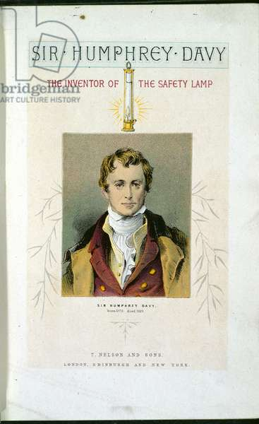Sir Humphry Davy (1778-1829) from 'Lessons from Noble Lives', 1875-78 (colour litho)