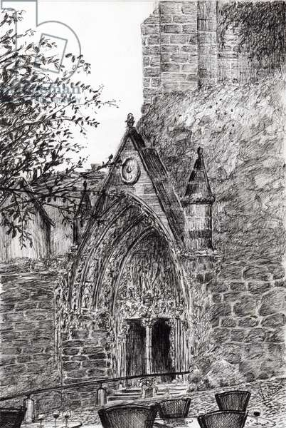 Saint Emilion, 2010, (ink on paper)