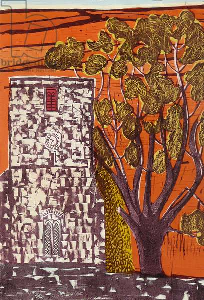 Tower Tree, 2011 (gouache/linocut)