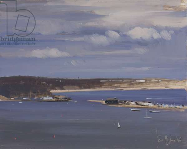Christchurch harbour from Hengistbury head, April