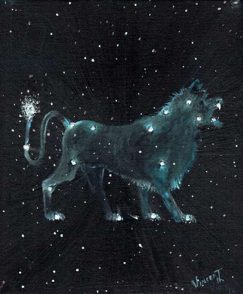 Star sign  Leo, 2016, (oil on canvas board)