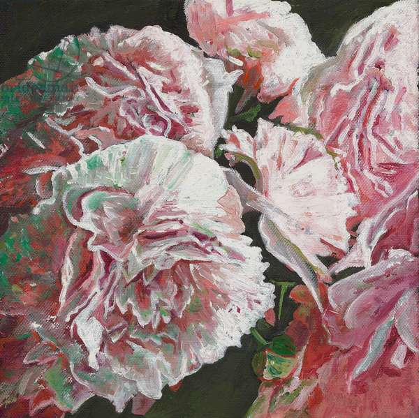 Peonies, 2010, (oil on canvas)