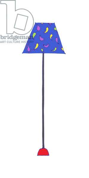 Standing Lamp Blue Shade