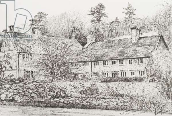 Mottistone Hall Isle of Wight, 2008  (ink on Paper)