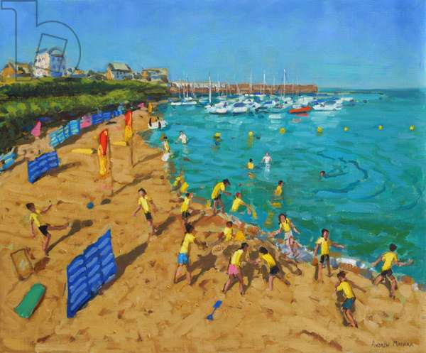 School outing,New Quay,Wales,2013,(oil on canvas)