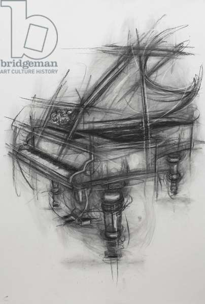 Grand Piano, 2005 (charcoal on paper)
