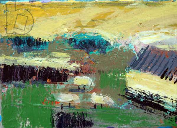Landscape Iona I (acrylic on canvas)