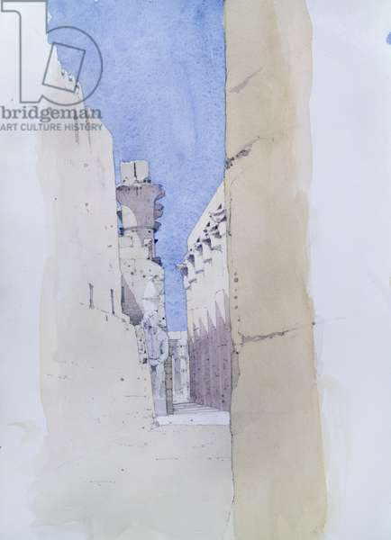 Luxor Temple (w/c on paper)