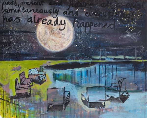 Everything has already happened, 2012, (acrylic on canvas)