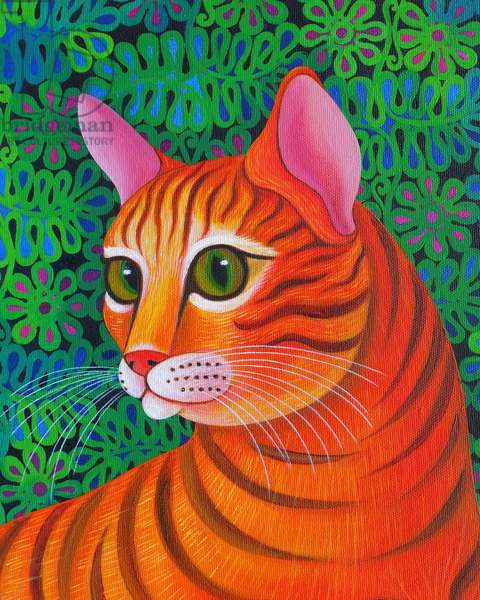 Tiger Cat, 2012, (oil on canvas)