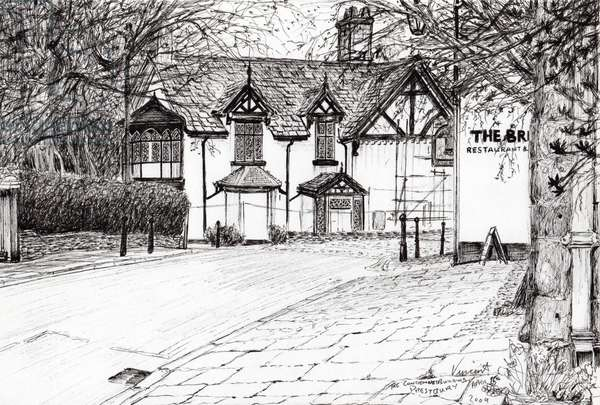 Condemned building Prestbury, 2009, (ink on paper)