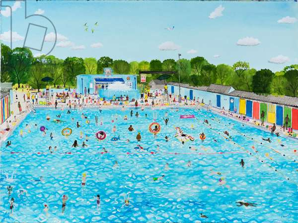 Lido Summers Day, 2019, (watercolour on paper)