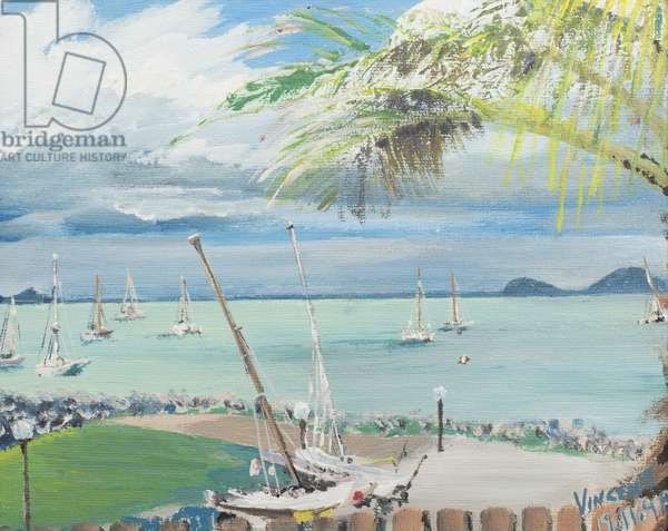 Airlie Beach, Australia, 1998,  (acrylic on canvas board)