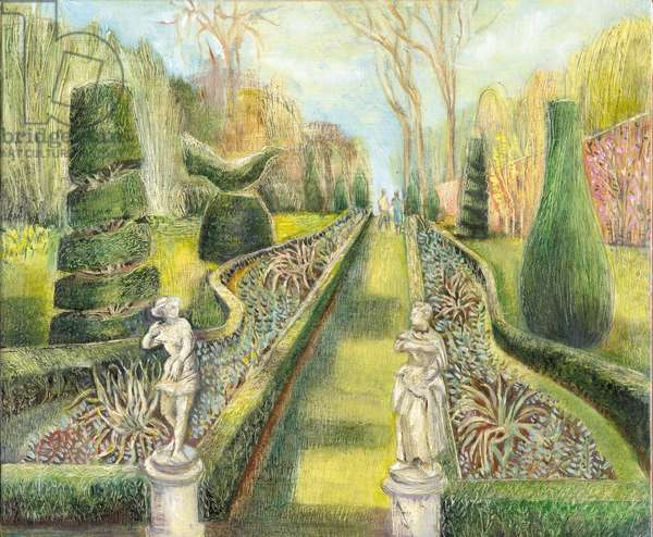 The Long Garden, Cliveden, Statues, 2002