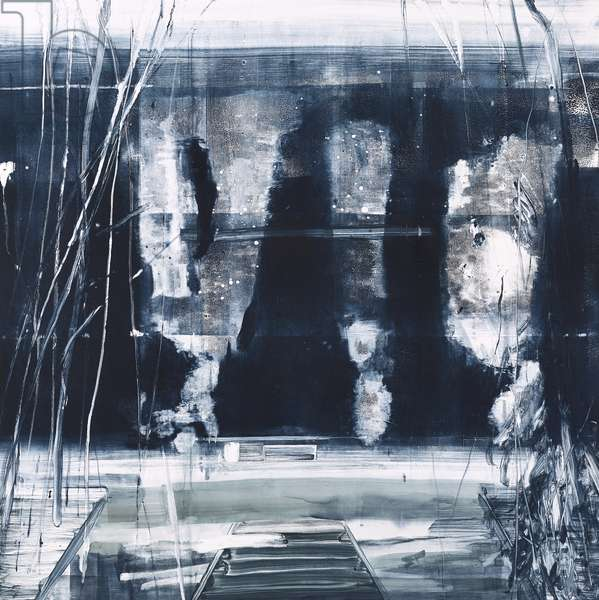 Palm House Nocturne, 2018, (monotype)