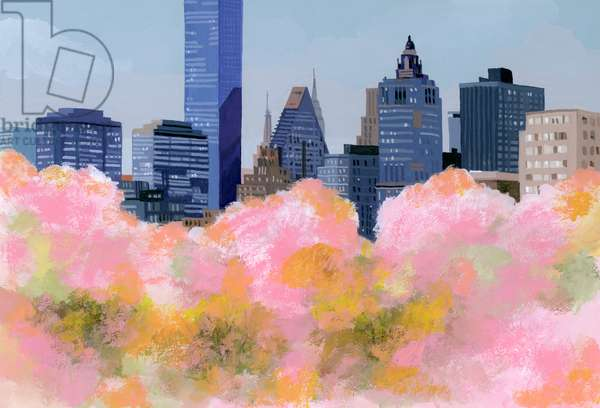 New York and cherry blossoms、2016,