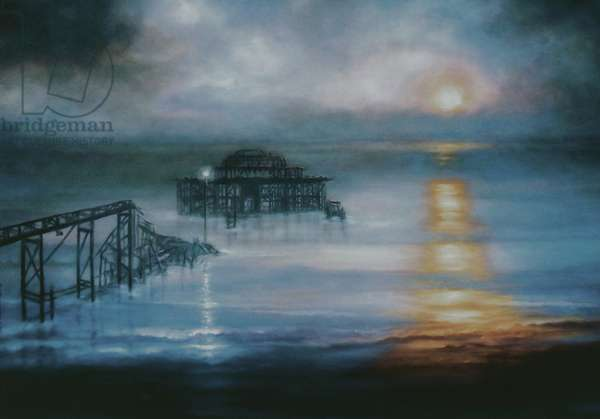 Lucent, 2006 (oil on canvas) Old Brighton Pier