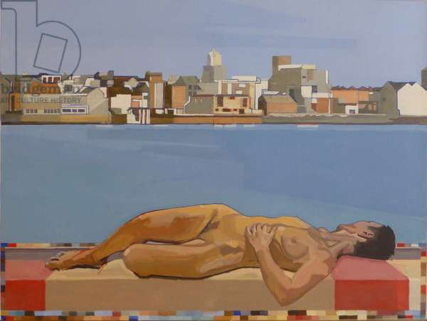 Looking at Old Portsmouth, 2012 (oil on canvas)