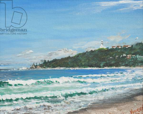 Byron Bay, Australia, 1998,  (acrylic on canvas board)