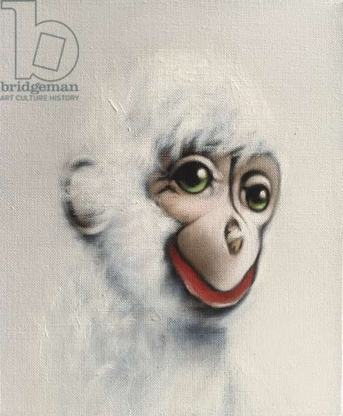 Monkey in White, 2005, (oil on canvas)