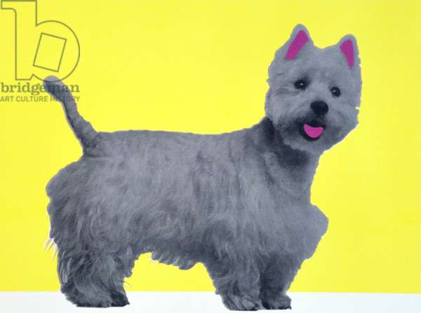 Bestie Westie, 2015, (screen print)