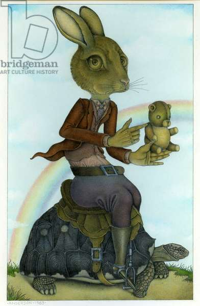 The Hare and the Tortoise,1983, Mixed Media