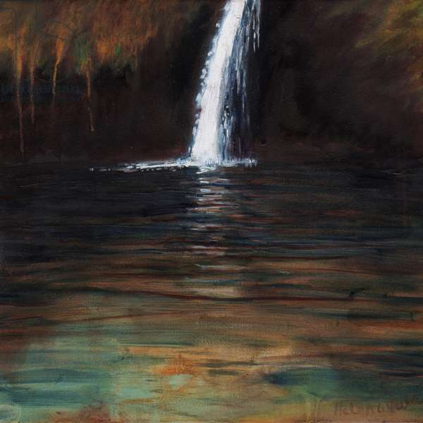 Waterfall III, 2016, (oil on canvas)
