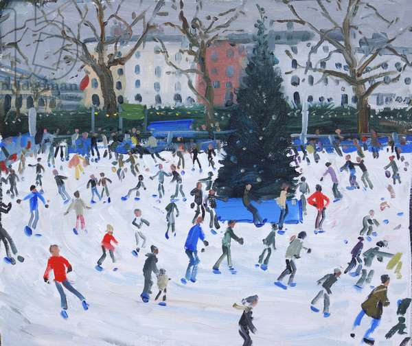 Skating, Natural History Museum, 2012 (oil on canvas)